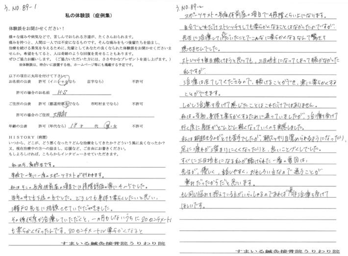 H・S様 大阪府 18歳 男性