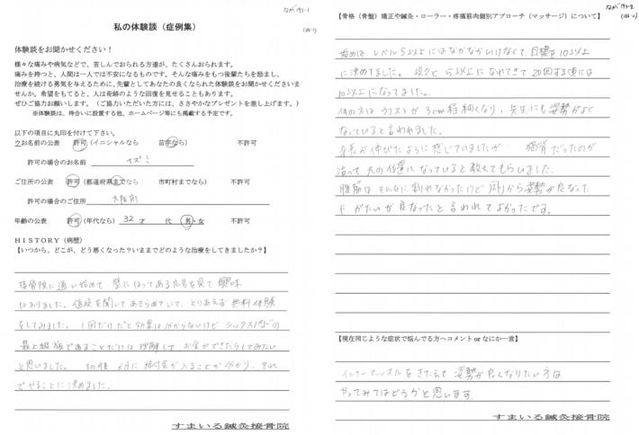 イズミ様 大阪府 32歳 男性 楽トレ